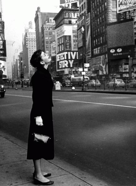 Audrey en Times Square